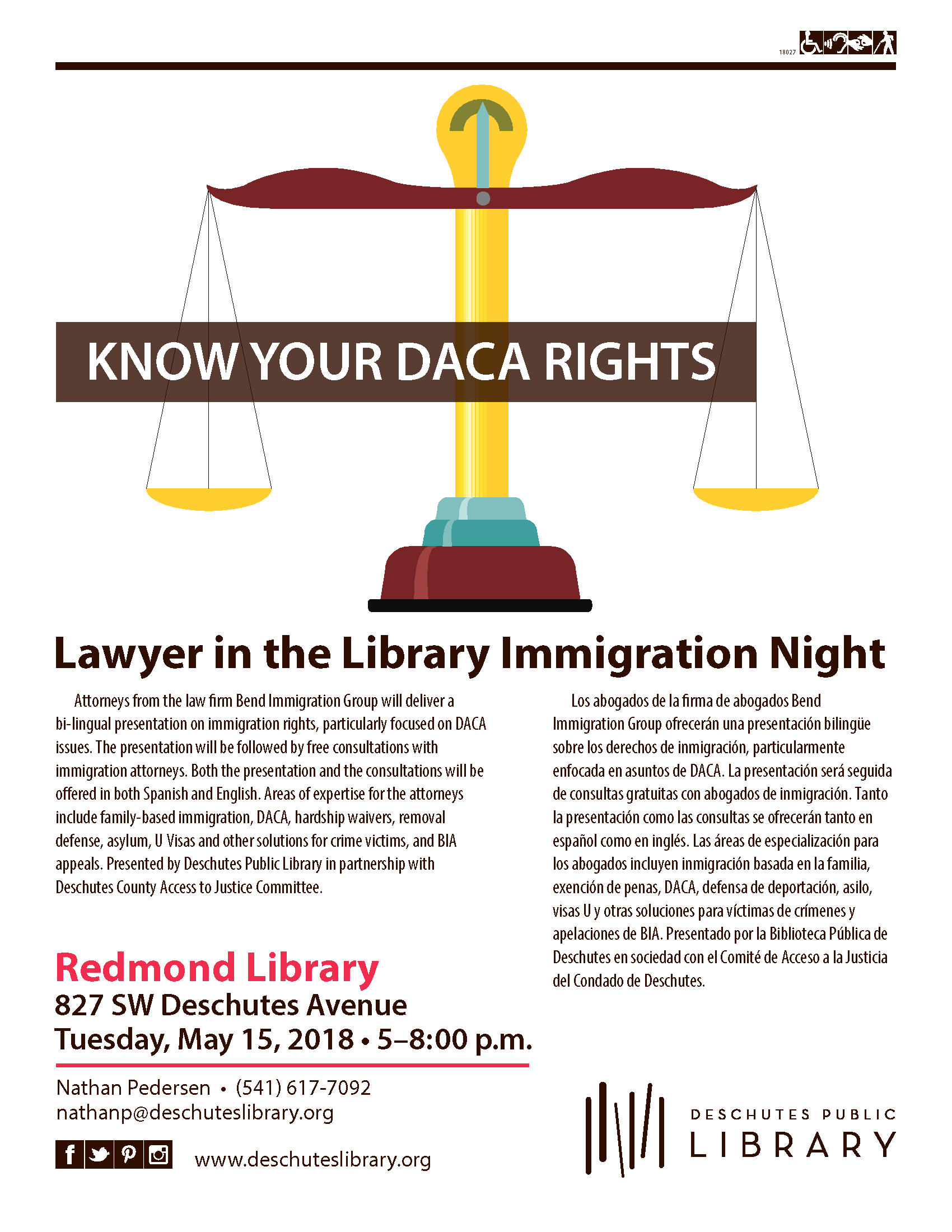 Know your DACA Rights: Lawyer in the Library Immigration Night in Redmond