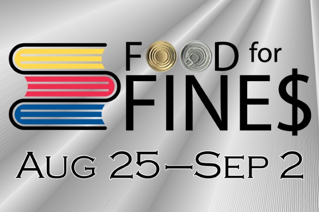 Food for Fines August 25 to September 2
