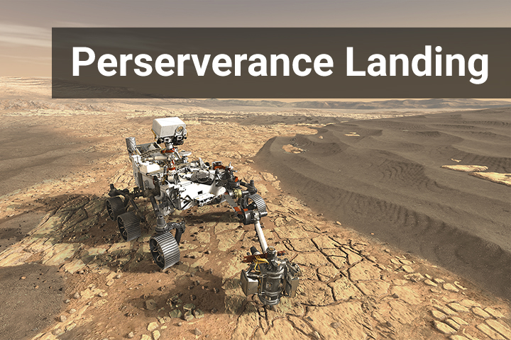 Mars - Perserverance Rover Landing Image